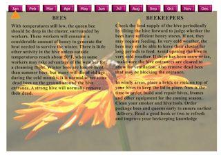 Beekeeper's Calendar - Requires Adobe Flash Player.